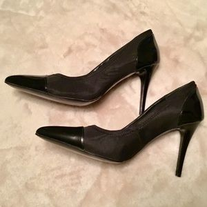 Nine West Black Two-Toned Pointy Toe Heels - 8.5